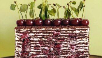 Ніжний торт «Вишня», рецепт приготування