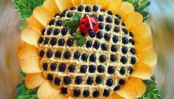 Салат «Соняшник», рецепт приготування