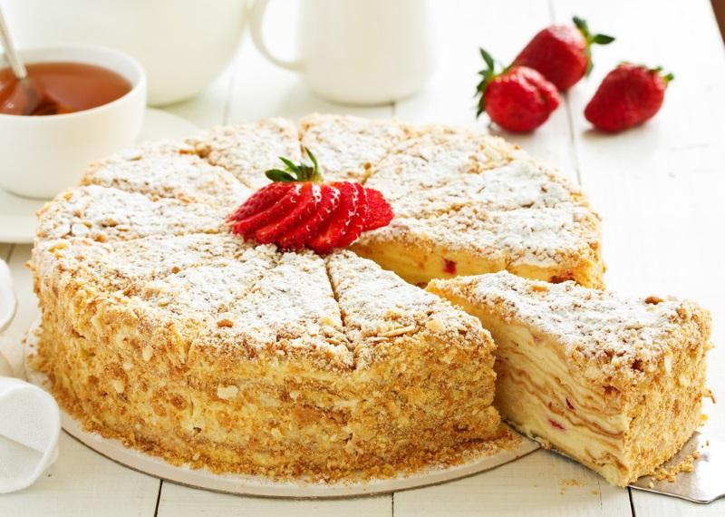 Сирний торт Наполеон - рецепт приготування