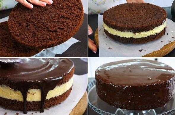 Рецепт шоколадного торта з ніжним кремом «Ескімо». Просто пальчики оближеш!