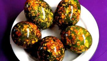 Мармурові драконячі яйця - як пофарбувати в дома
