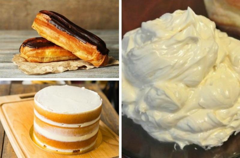 Масляний крем для еклерів і тортів - рецепт приготування