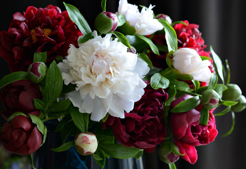 Порцелянові букети квітів - ручна робота Олесі Галущенко