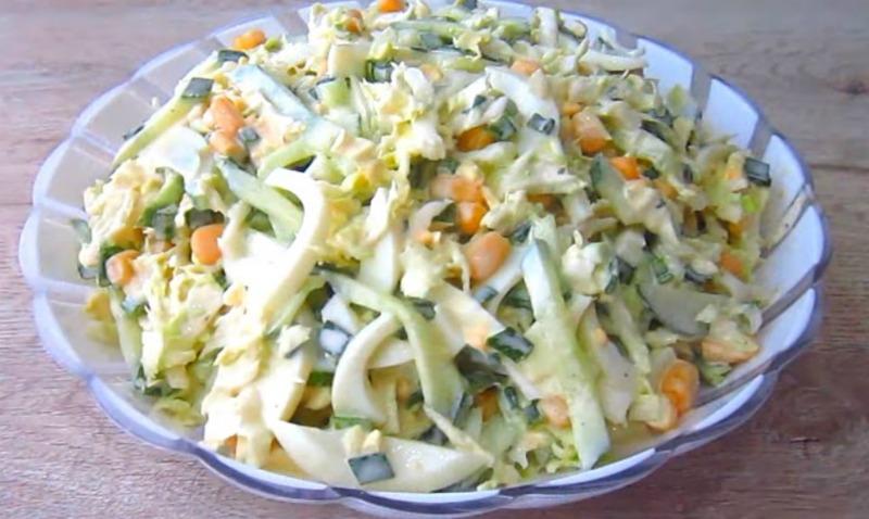 Салат «Весняний» з пекінською капустою - детальний рецепт