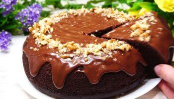 Шоколадний бісквіт на кип'ятку - детальний рецепт