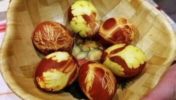 Як пофарбувати яйця на Великдень - простий метод