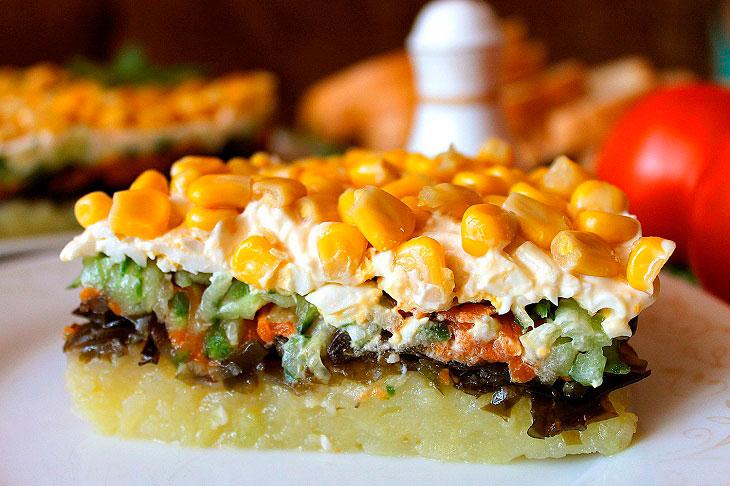 Салат «Бриз» - соковита і смачна страва з ефектною подачею