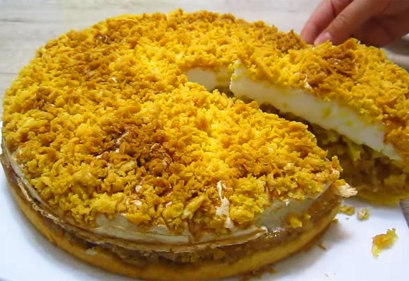 Ніжний яблучний пиріг - рецепт приготування