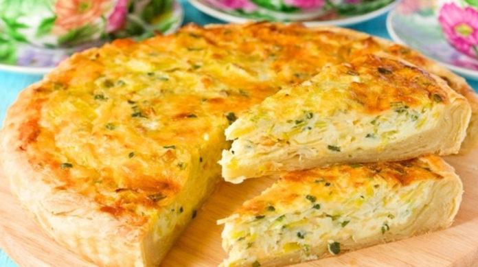 Пиріг з капустою і сиром - рецепт приготування