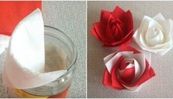 Роза з серветок - простий метод формування