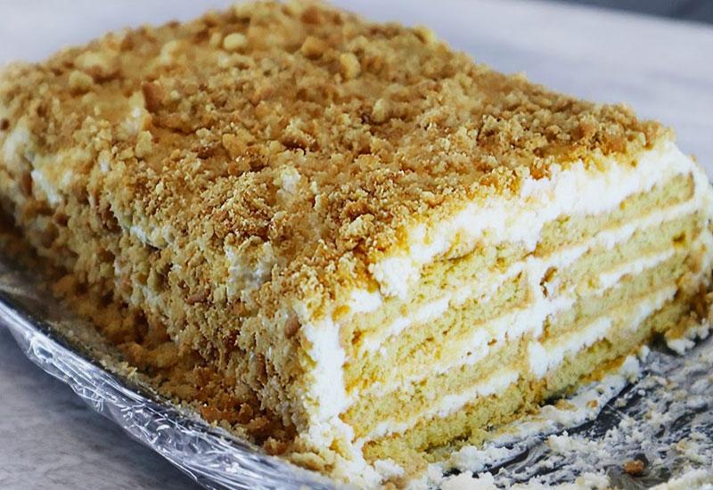 Торт з сирним кремом - рецепт приготування