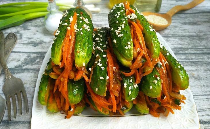 Огірки по-корейськи, детальний рецепт