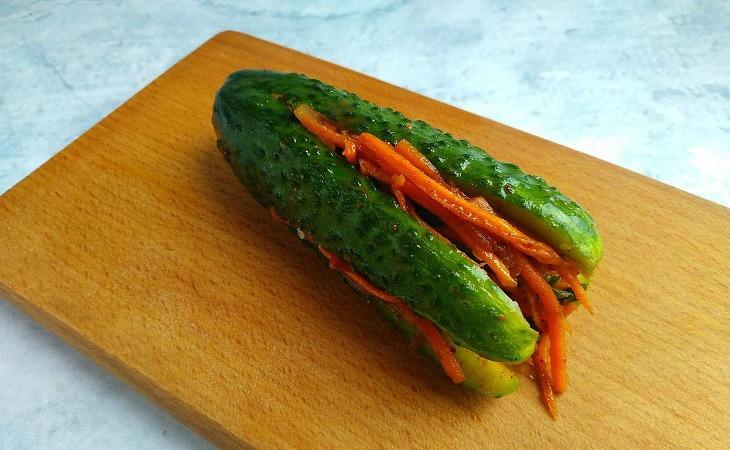 Огірки по-корейськи - швидкий рецепт відмінної закуски
