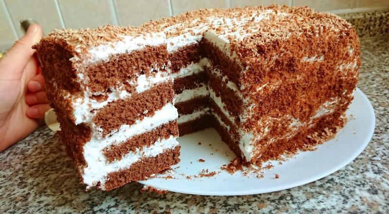 Торт шоколадний медовик - рецепт приготування