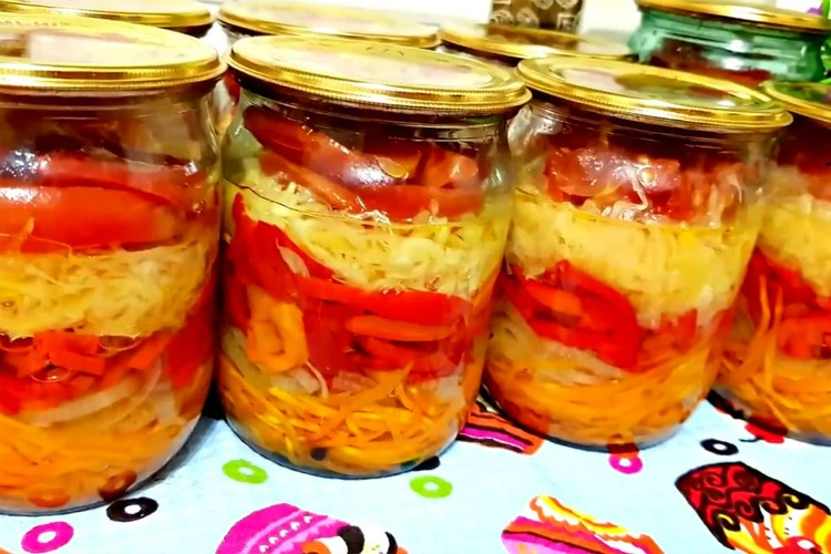 «Лінивий салат» на зиму - рецепт приготування