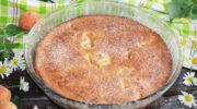 Заливний пиріг з абрикосами – пишний і ароматний