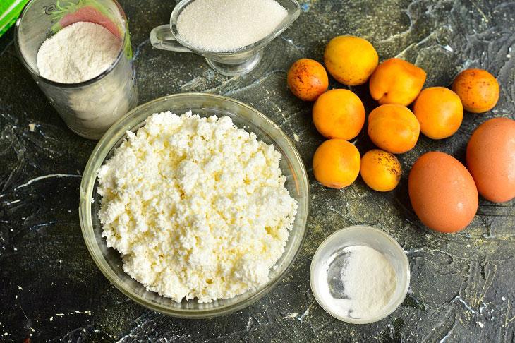 Сирна запіканка з абрикосами - яскравий і смачний рецепт