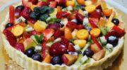 Сирний пиріг «Фрутті» з вершковим кремом і фруктами