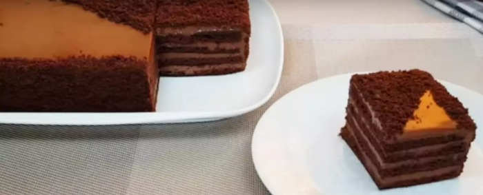 Десерт без духовки: шоколадний торт на сковороді