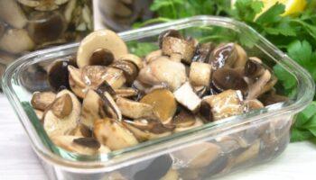 Мариновані гриби на зиму – покроковий рецепт