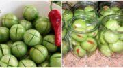 Рецепт смачних фаршированих зелених помідорів. Дуже смачна консервація в банках на зиму