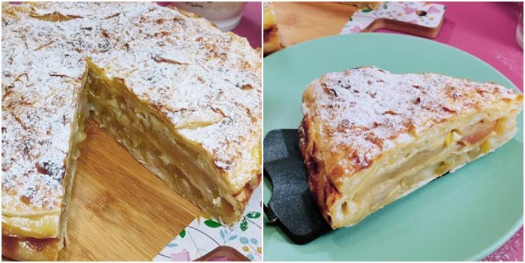 Пиріг з лаваша і яблуками (швидко, просто і тісто робити не потрібно)
