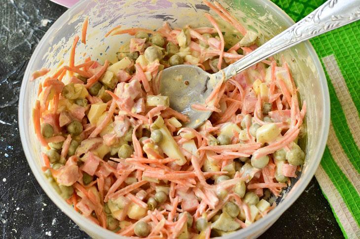 Салат «Енді» з ковбасою - відмінний рецепт на швидку руку