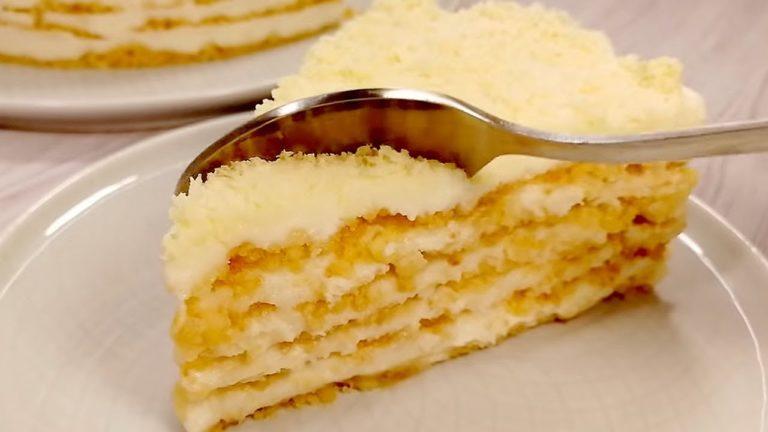 Торт «Пломбір» без духовки, печива і желатину завжди викликає захоплення гостей