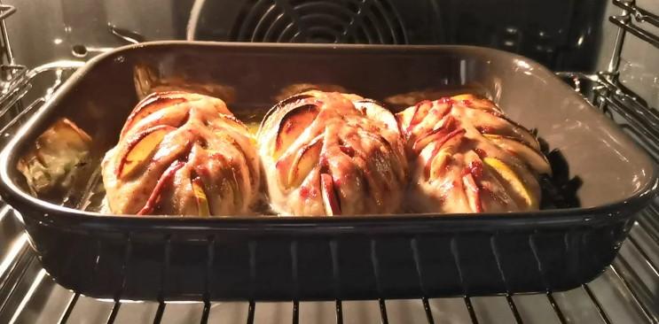 """Нова """"Гармошка"""" з курячого філе. Робила на святковий стіл, тепер буду готувати просто на вечерю"""