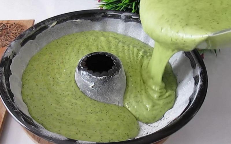 Як готується кекс з шпинату