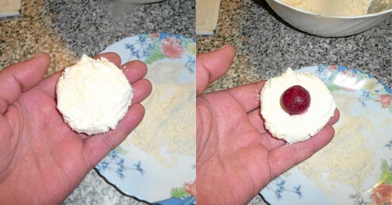 Як я готую вареники з сирного тіста із вишнею