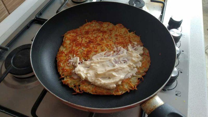 Рецепт хрусткого деруна «Панський» з сирною начинкою