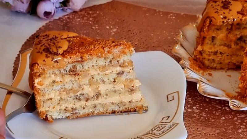Дивовижно простий, але дуже смачний торт з самих простих продуктів