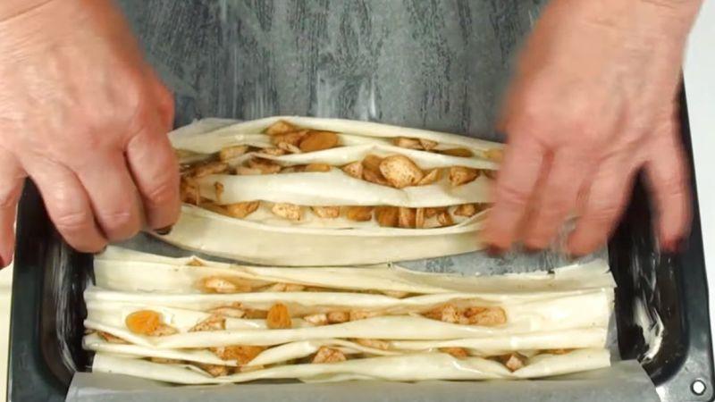 Ніжний Грецький пиріг «Плісе» з тіста філо
