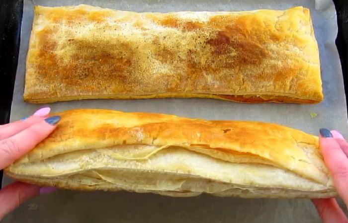 Лінивий «Наполеон» з листкового тіста за 30 хвилин